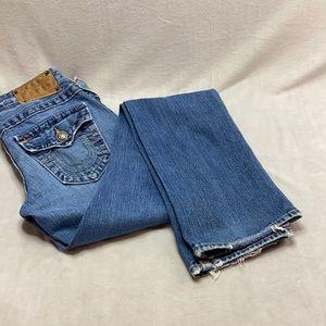 True Religion faded medium wash bootcut jeans 26